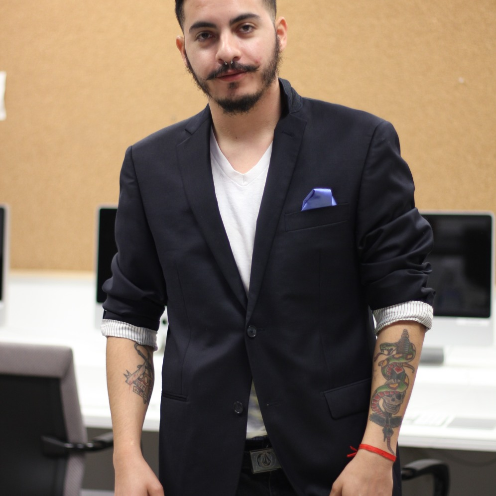 Aldo Pereyra, 27, is a fine arts major at FIU. His work is mainly street art.