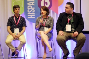 From left to right, Brian Meece, Kate Albright-Hanna and Chris Dell shared their experiences about starting their own companies at Hispanicize earlier this month in Miami.